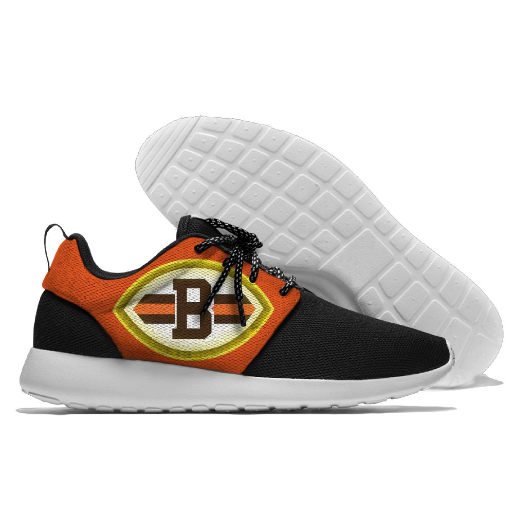 Women's NFL Cleveland Browns Roshe Style Lightweight Running Shoes 001