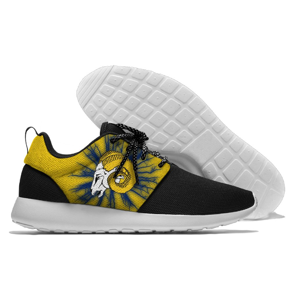 Women's NFL Los Angeles Rams Roshe Style Lightweight Running Shoes 001