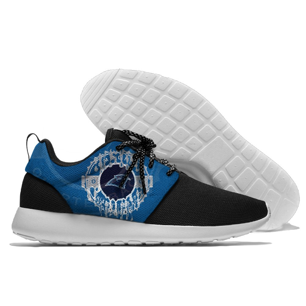 Women's NFL Carolina Panthers Roshe Style Lightweight Running Shoes 001
