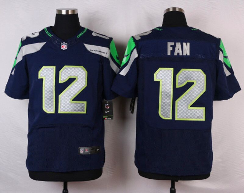 Men's Nike Seattle Seahawks #12 Fan Blue Stitched NFL Elite Jersey