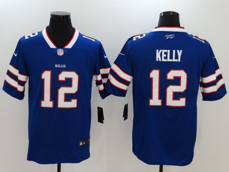 Men's Buffalo Bills #12 Jim Kelly Blue Vapor Untouchable Limited Jersey