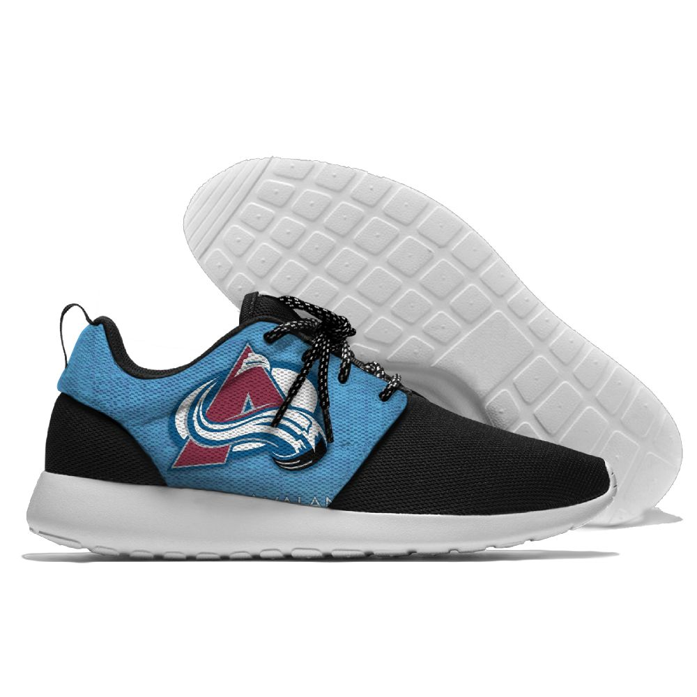 Men's NHL Colorado Avalanche Roshe Style Lightweight Running Shoes 001