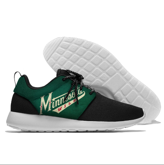 Men's NHL Minnesota Wild Roshe Style Lightweight Running Shoes 001