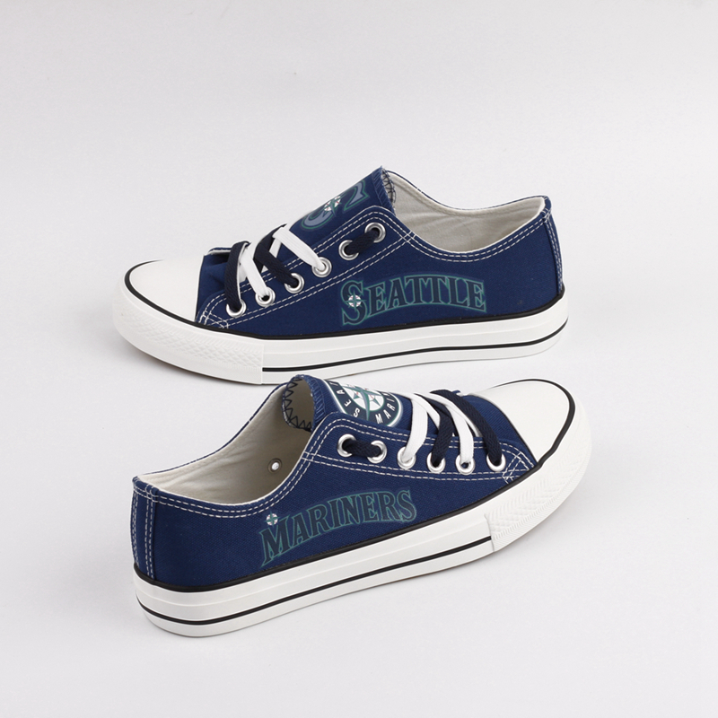 Women's Seattle Mariners Repeat Print Low Top Sneakers