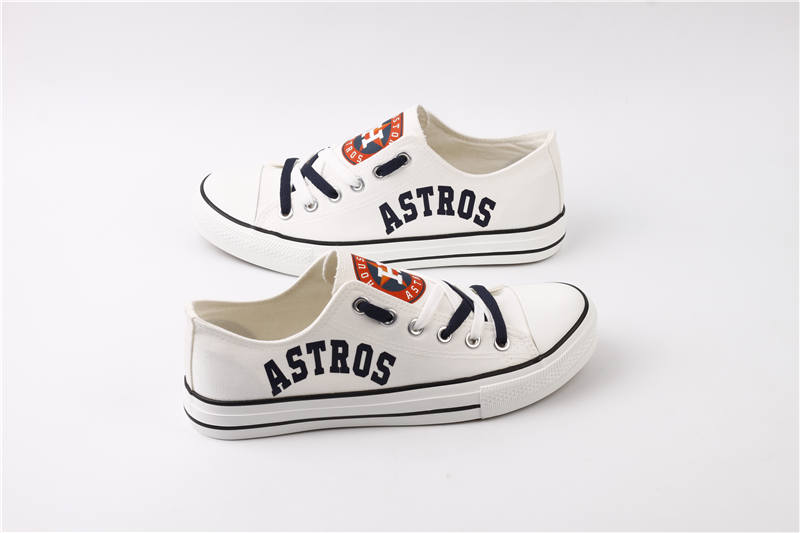 Women and Youth MLB Houston Astros Repeat Print Low Top Sneakers 003