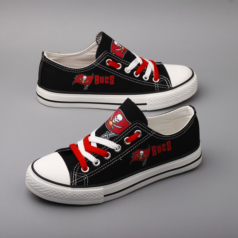 Women and Youth NFL Tampa Bay Buccaneers Repeat Print Low Top Sneakers