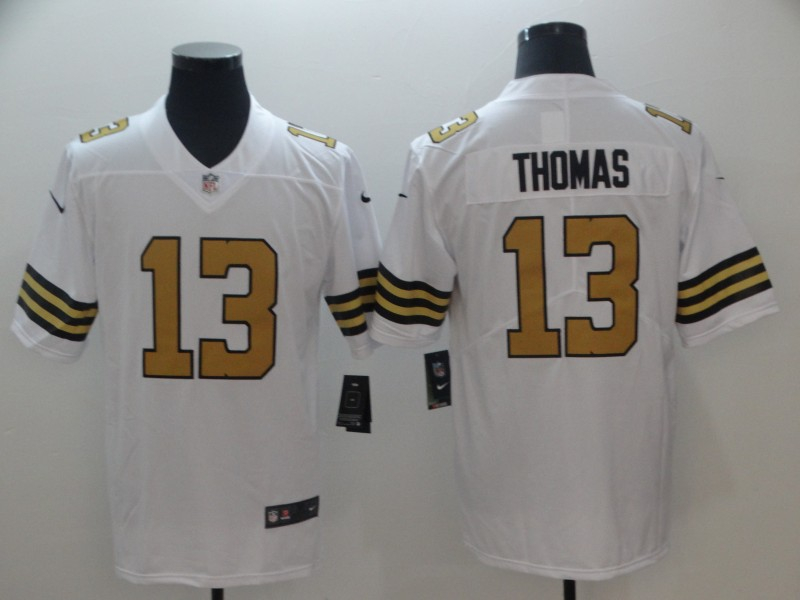 Men's New Orleans Saints #13 Michael Thomas White Rush Limited Stitched NFL Jersey
