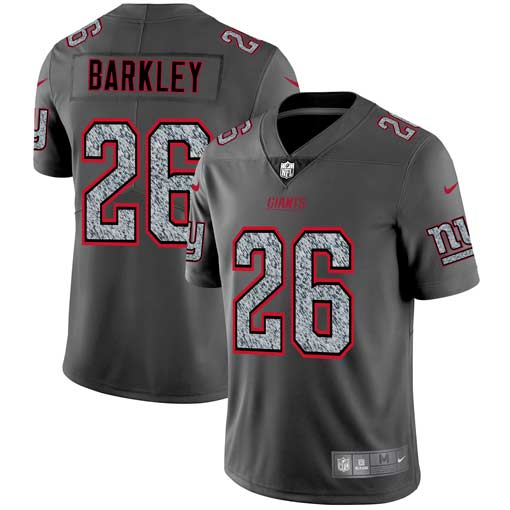 Men's New York Giants #26 Saquon Barkley 2019 Gray Fashion Static Limited Stitched NFL Jersey