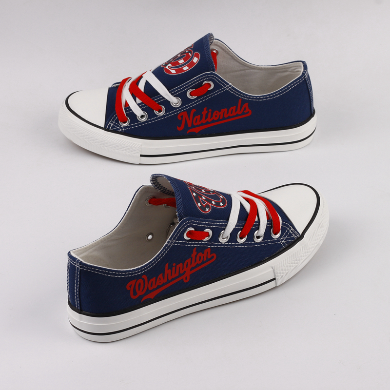 Women and Youth Washington Nationals Repeat Print Low Top Sneakers
