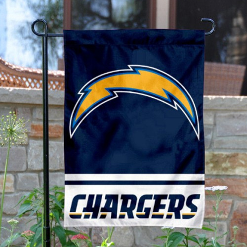 Los Angeles Chargers Double-Sided Garden Flag 001 (Pls Check Description For Details)