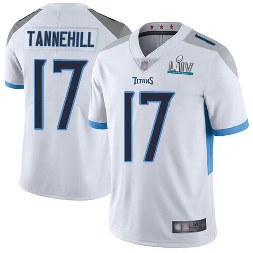 Men's Tennessee Titans #17 Ryan Tannehill Super Bowl LIV White Vapor Untouchable Limited Stitched NFL Jersey