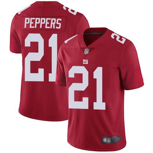 Men's New York Giants #21 Jabrill Peppers Red Vapor Untouchable Limited Stitched NFL Jersey