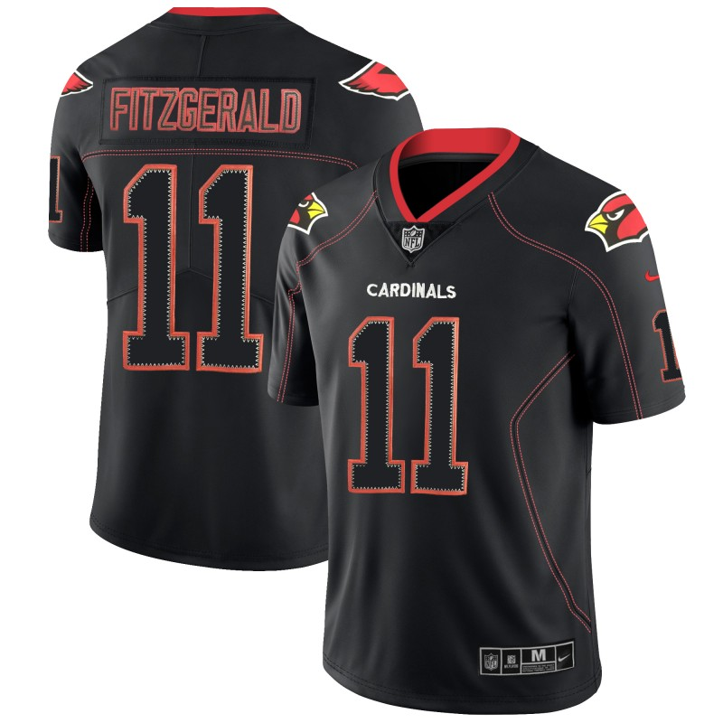 Men's Cardinals #11 Larry Fitzgerald NFL 2018 Lights Out Black Color Rush Limited Stitched Jersey