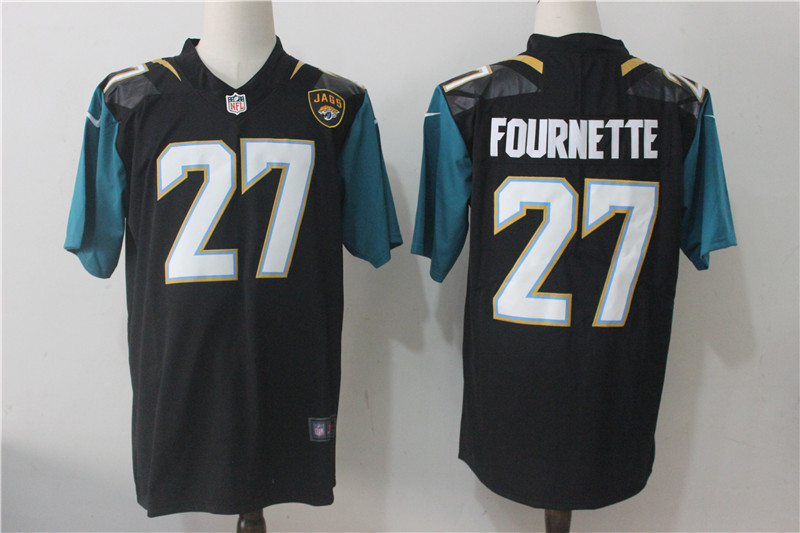 Men's Nike Jacksonville Jaguars #27 Leonard Fournette Black Alternate Stitched NFL Vapor Untouchable Limited Jersey