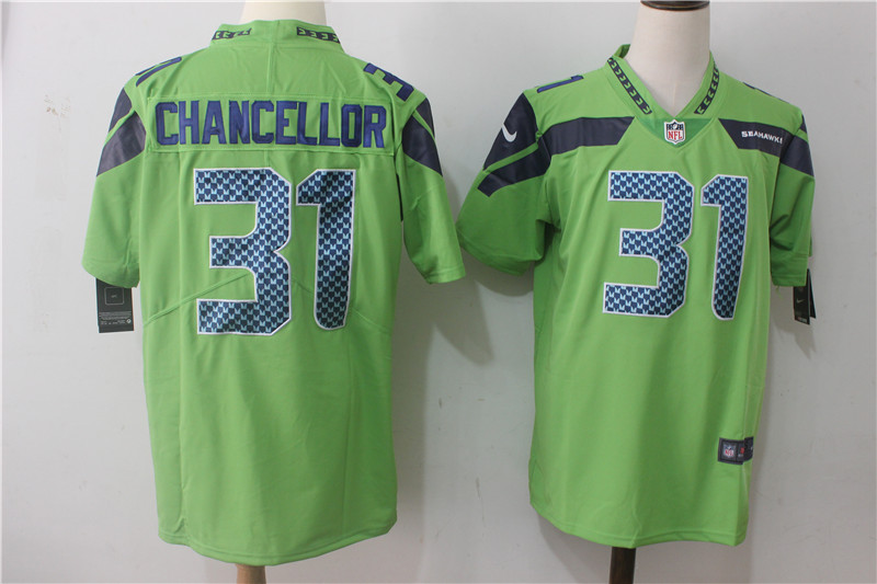 Men's Nike Seattle Seahawks #31 Kam Chancellor Steel Green Stitched NFL Vapor Untouchable Limited Jersey