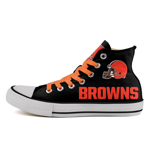 Men's NFL Cleveland Browns Repeat Print High Top Sneakers 002