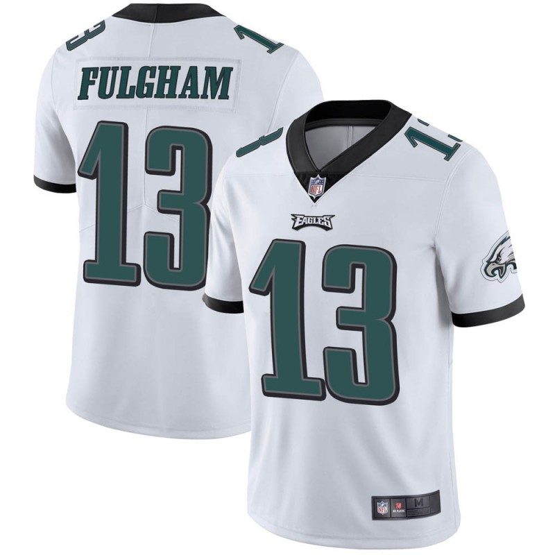 Men's Philadelphia Eagles #13 Travis Fulgham White Vapor Untouchable Limited Stitched NFL Jersey