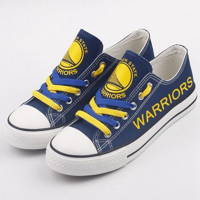 Women and Youth NBA Golden State Warriors Repeat Print Low Top Sneakers