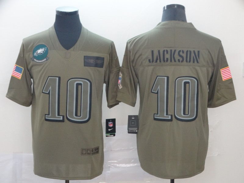 Men's Philadelphia Eagles #10 DeSean Jackson 2019 Camo Salute To Service Limited Stitched NFL Jersey