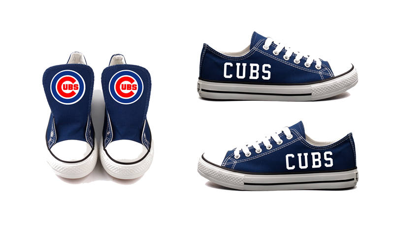 Women and Youth Chicago Cubs Repeat Print Low Top Sneakers