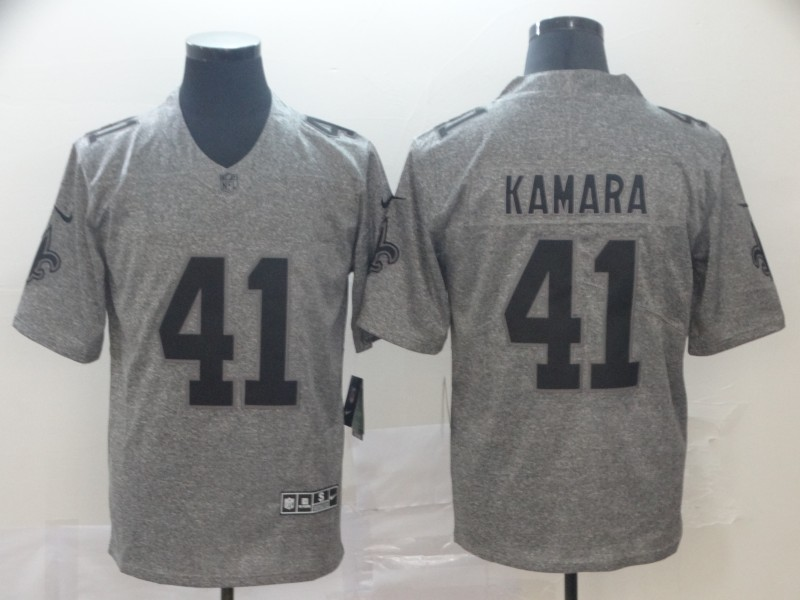 Men's New Orleans Saints #41 Alvin Kamara Grey 2019 Stitched NFL Jersey