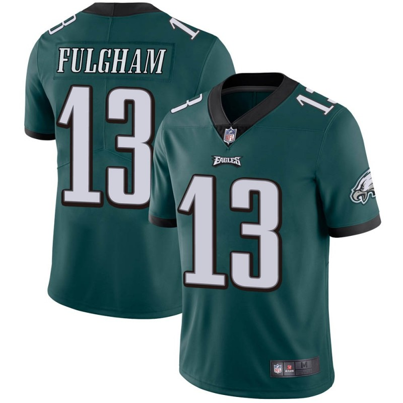 Men's Philadelphia Eagles #13 Travis Fulgham Green Vapor Untouchable Limited Stitched NFL Jersey