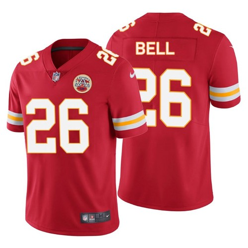 Men's Kansas City Chiefs #26 Le'Veon Bell Red Stitched NFL Jersey