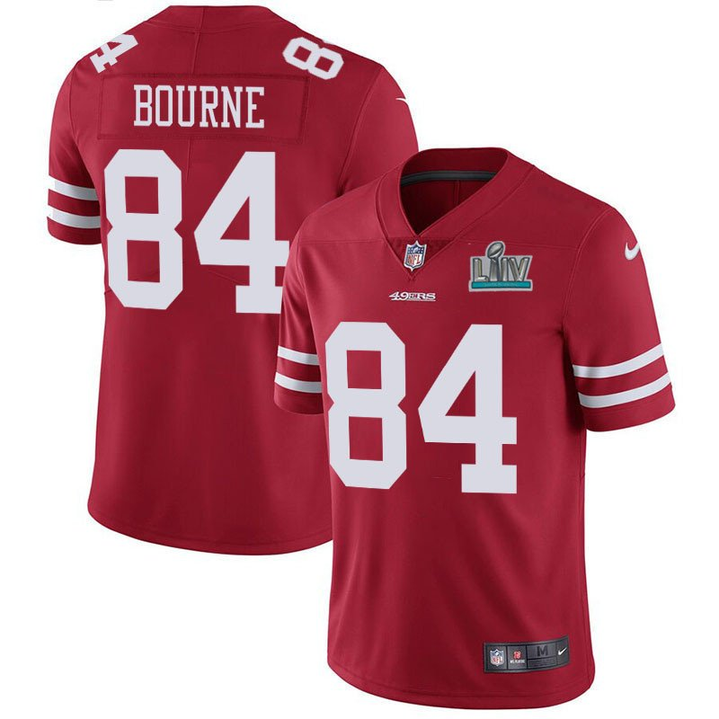 Men's San Francisco 49ers #84 Kendrick Bourne Red Super Bowl LIV Vapor Untouchable Limited Stitched NFL Jersey