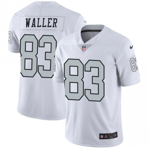 Men's Oakland Raiders #83 Darren Waller White Color Rush Limited Stitched NFL Jersey