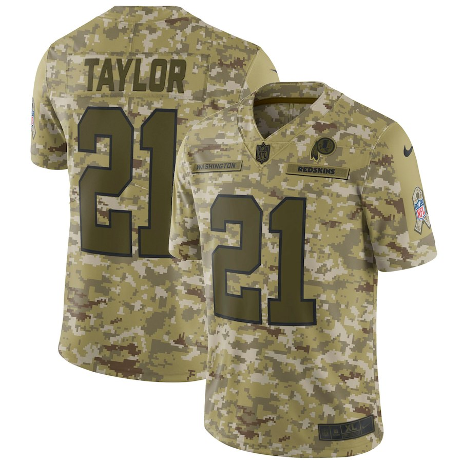 Men's Washington Redskins #21 Sean Taylor 2018 Camo Salute To Service Limited Stitched NFL Jersey