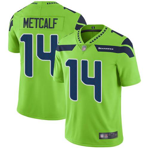 Men's Seahawks #14 D.K. Metcalf Green Vapor Untouchable Limited Stitched NFL Jersey