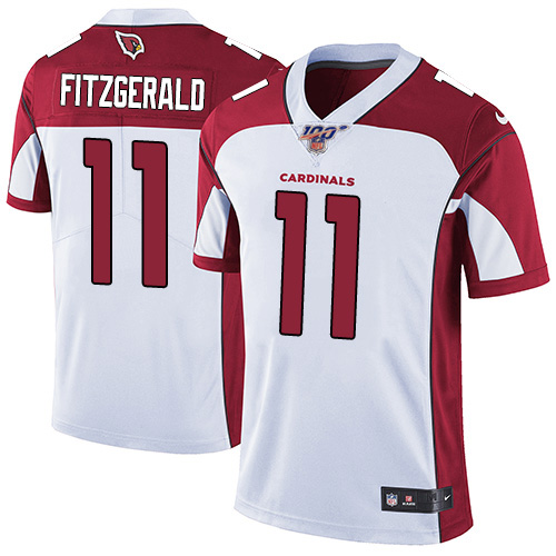 Men's Arizona Cardinals #11 Larry Fitzgerald White 2019 100th Season Vapor Untouchable Limited Stitched NFL Jersey