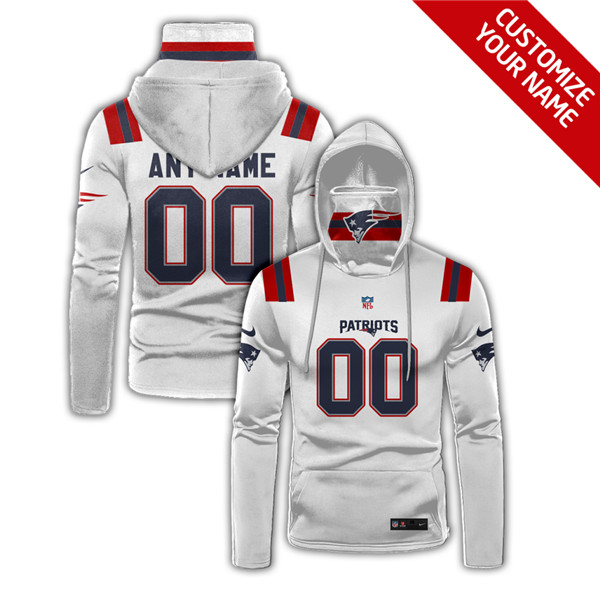 Men's New England Patriots Customize Hoodies Mask 2020