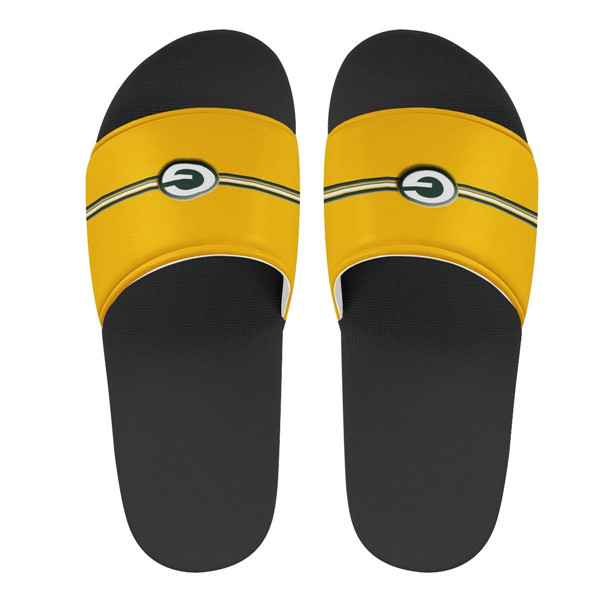 Youth Green Bay Packers Flip Flops 001