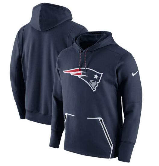 Men's Nike New England Patriots Navy Champ Drive Vapor Speed Pullover Hoodie