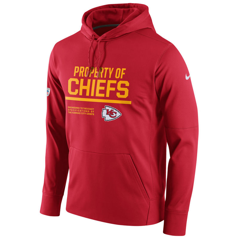 Men's Kansas City Chiefs Nike Red Circuit Property Of Performance Pullover Hoodie