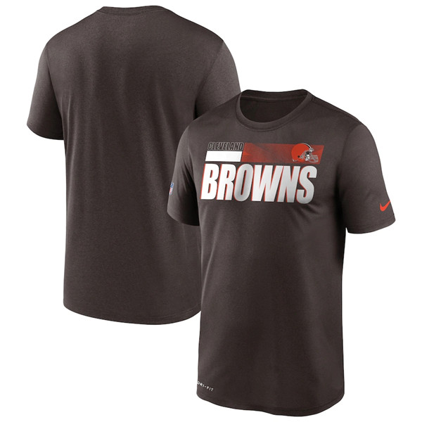 Men's Cleveland Browns 2020 Brown Sideline Impact Legend Performance NFL T-Shirt