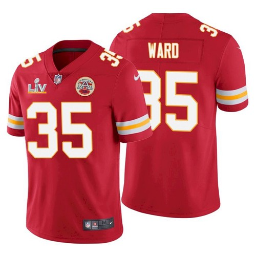 Men's Kansas City Chiefs #35 Charvarius Ward Red 2021 Super Bowl LV Limited Stitched NFL Jersey