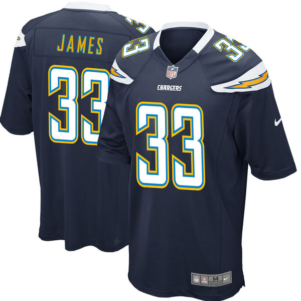Men's Los Angeles Chargers #33 Derwin James Navy 2018 NFL Draft First Round Pick Game Jersey