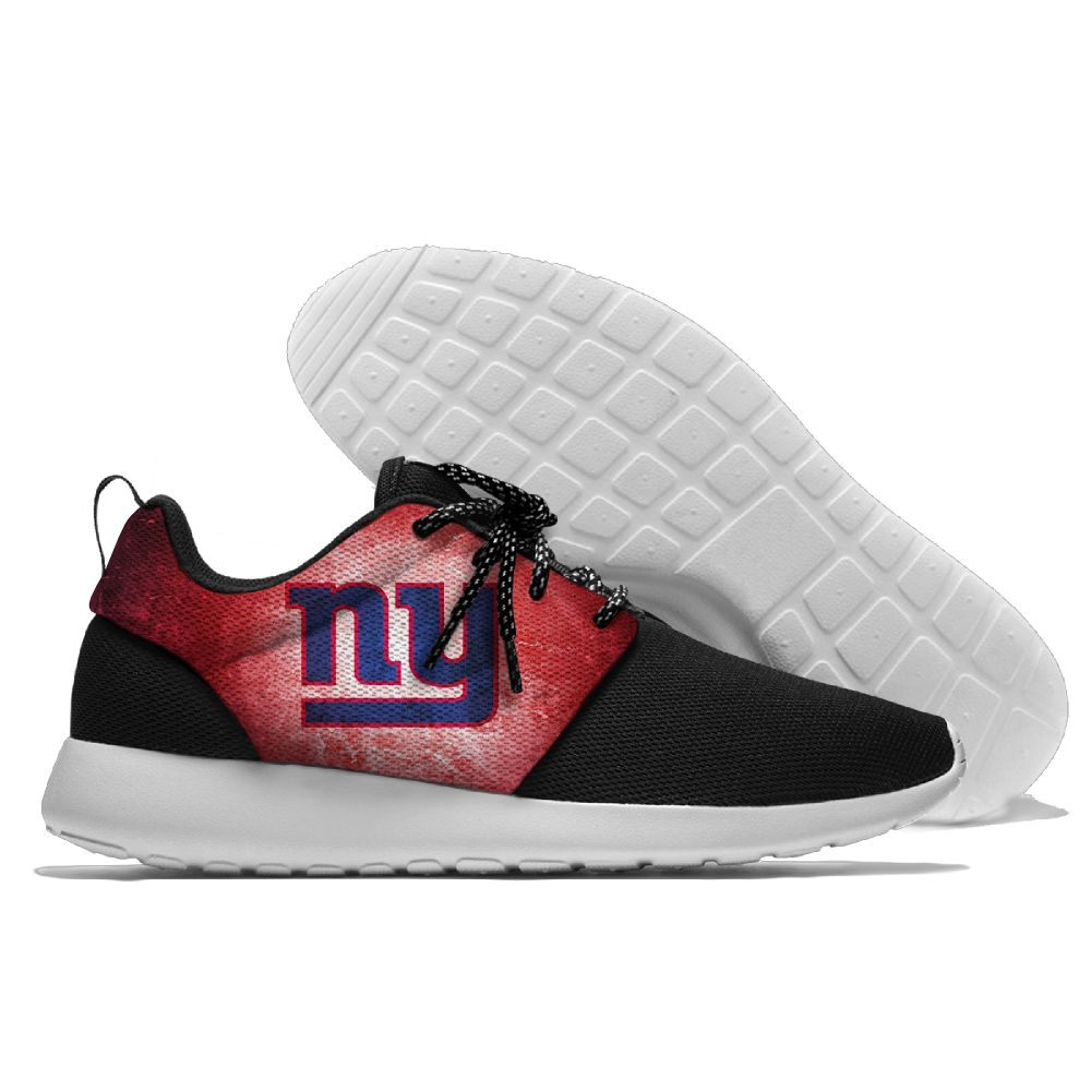 Men's NFL New York Giants Roshe Style Lightweight Running Shoes 006