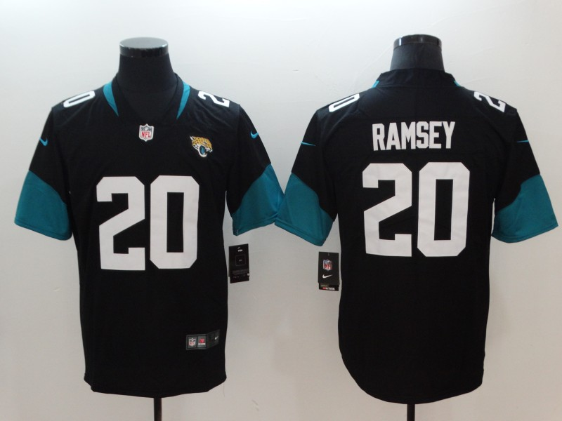Men's NFL Jacksonville Jaguars #20 Jalen Ramsey Black New 2018 Vapor Untouchable Limited Stitched Jersey