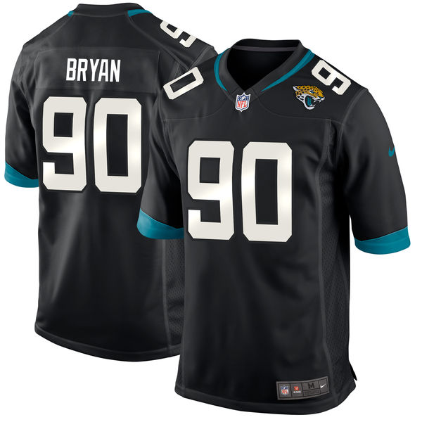 Men's Jacksonville Jaguars #90 Taven Bryan Black 2018 NFL Draft First Round Pick Game Jersey