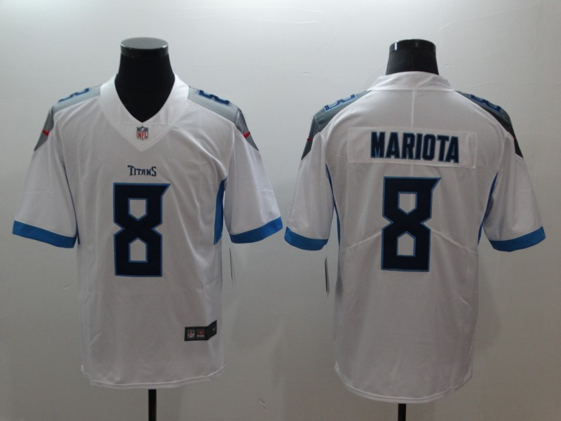 Men's Tennessee Titans #8 Marcus Mariota White New 2018 Vapor Untouchable Limited Stitched NFL Jersey