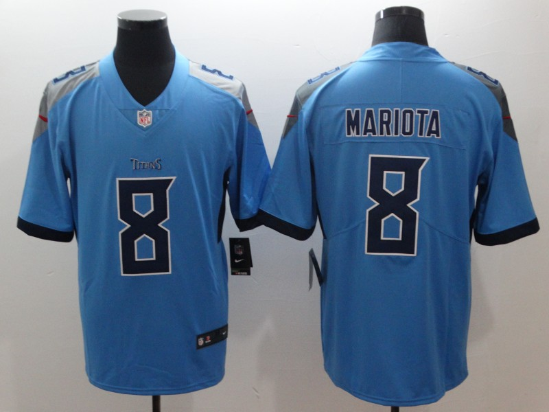 Men's Tennessee Titans #8 Marcus Mariota Navy New 2018 Vapor Untouchable Limited Stitched NFL Jersey