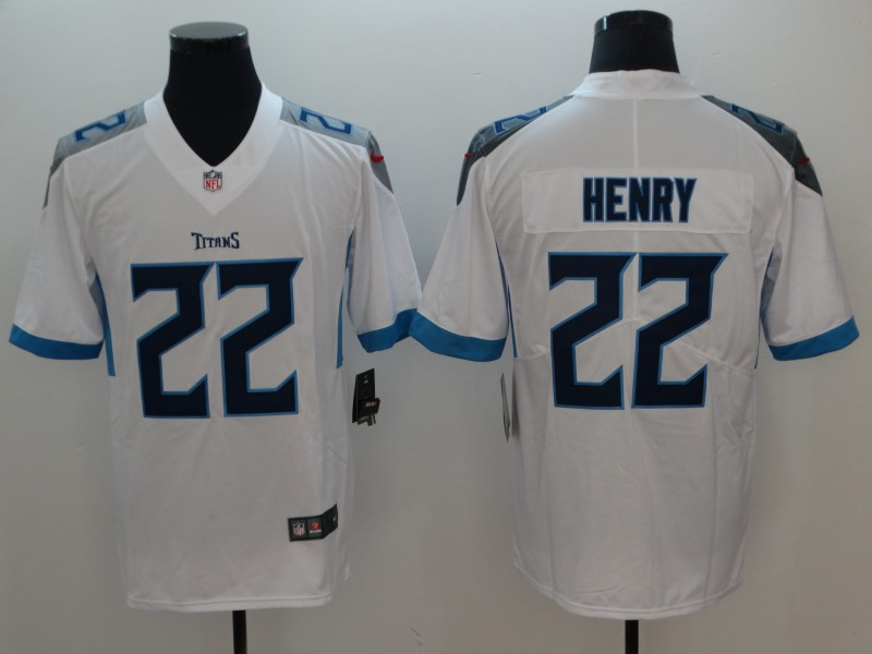 Men's NFL Tennessee Titans #22 Derrick Henry White New 2018 Vapor Untouchable Limited Stitched Jersey