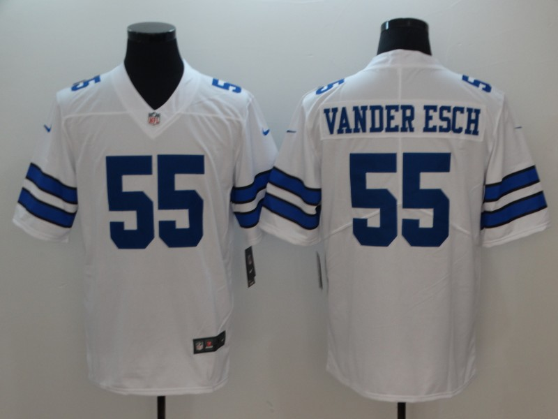 Men's NFL Dallas Cowboys #55 Vander Esch White 2018 Draft Vapor Untouchable Limited Stitched Jersey