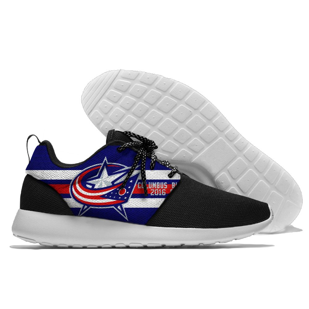 Women's NHL Columbus Blue Jackets Roshe Style Lightweight Running Shoes 002