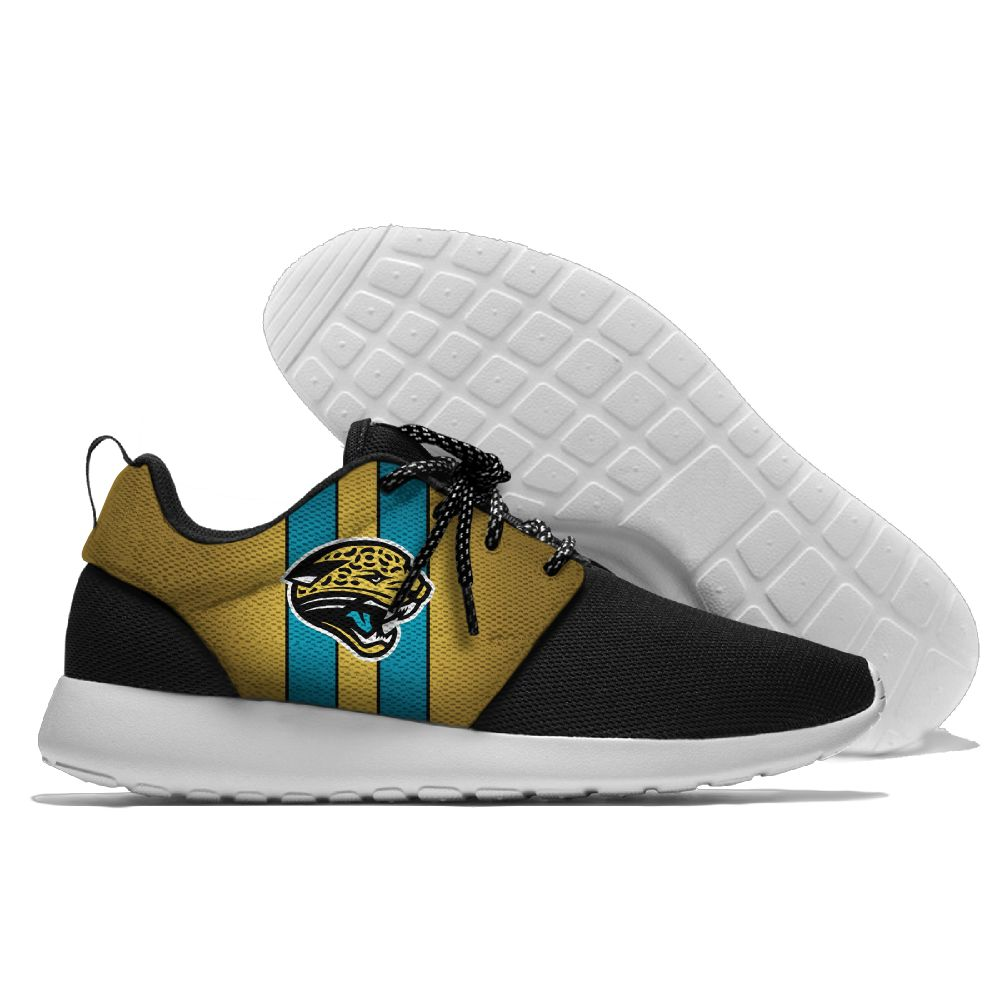 Men's NFL Jacksonville Jaguars Roshe Style Lightweight Running Shoes 002