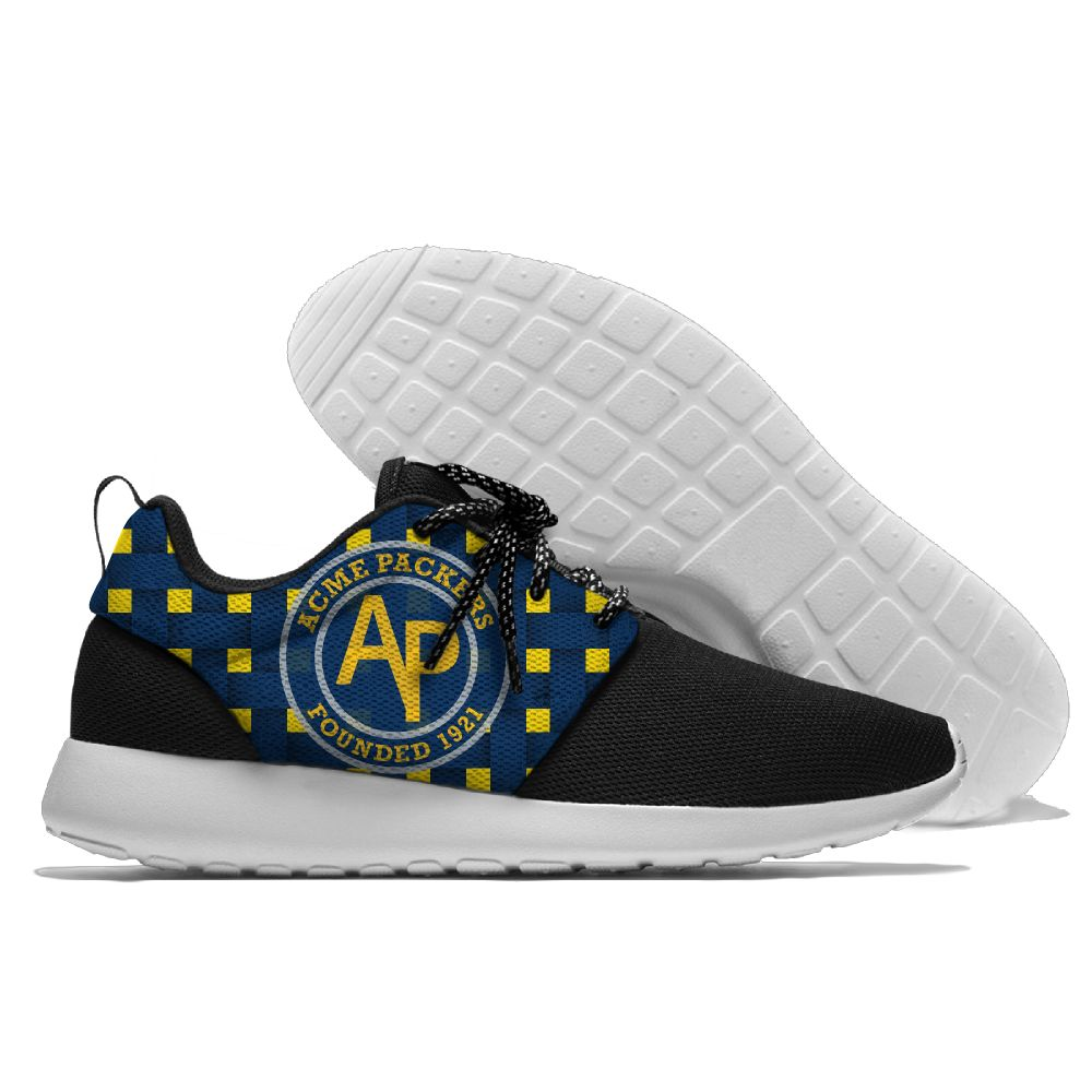 Women's NFL Green Bay Packers Roshe Style Lightweight Running Shoes 002