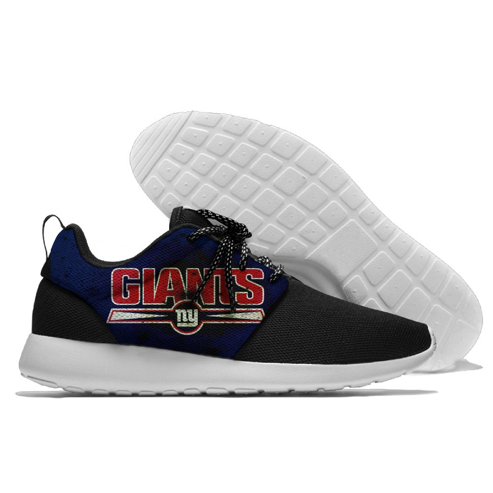 Women's NFL New York Giants Roshe Style Lightweight Running Shoes 002